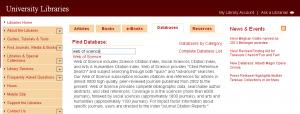 Web of Science at CUA