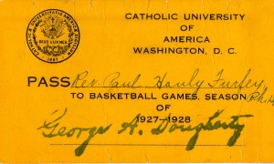 1927-28 CUA basketball season ticket