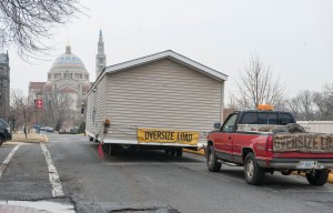 trailer being removed