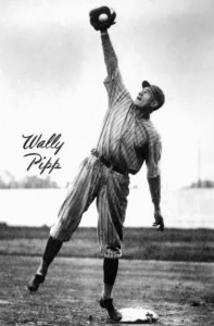 Pipp fielding at his first base position.