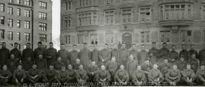 Student Army Training Corps (SATC) at The Catholic University of America, 1918. University Records, CUA Archives.