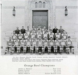 The 1936 CUA Football Team