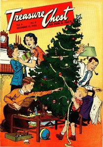 Decorating the family tree! Treasure Chest, v. 6, n. 8, December 21, 1950.