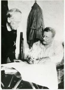 Rev. John Zahm and Theodore Roosevelt, Brazil, 1914. (John Tracy Ellis Papers)