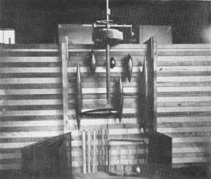 Some of the body shapes Zahm tested in the Wind Tunnel. Ca. 1904.
