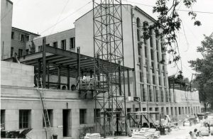 Construction of Additions to Mullen Library, 1957