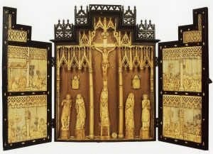 Ivory Triptych Date of Gift: 1917 Location: McMahon Hall – Room 109