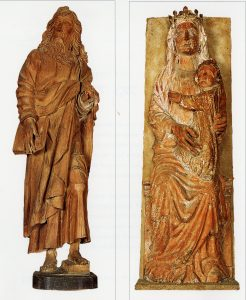 St. Paul and Madonna and Child Statues Date of Gift: 1959 Location: Mullen Library – May Gallery