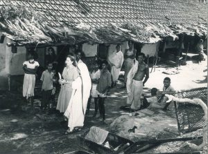 Eileen Egan and Mother Teresa, Catholic Relief Services Visit to Leper Families, 1958. American Catholic History Research Center and University Archives.