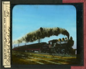 """Railroad Train"" Lantern Slide #11"