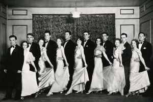 Students posing at one of the 1930s galas.