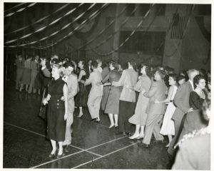 Conga Line at the Homecoming Dance, ca. 1950s