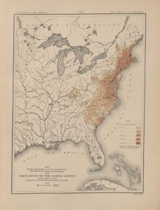 The 1790 map illustrates the population of the United States following the 1790 census.