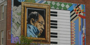 Mural on the True Reformer Building located on U Street. Taken from dchistory.org.