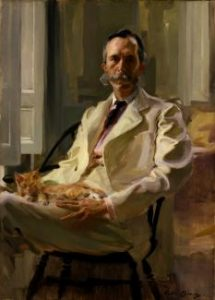 """Man with the Cat"""